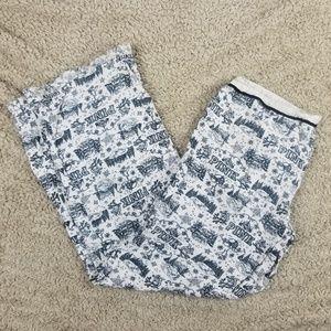 VS Pink White & Black Winter Theme PJ Pants Small